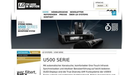 "Weitere Infos zu ""Creating waves in the license-free duplex gap with the LD Systems U500 Series - products now available"""