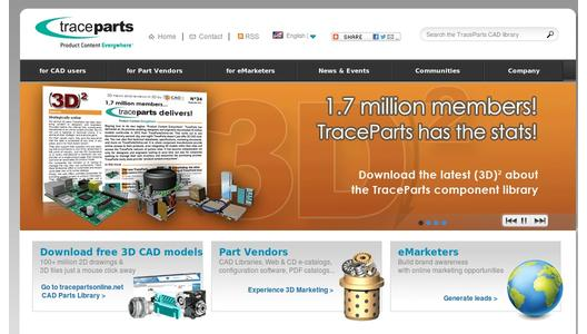 "Weitere Infos zu ""New 3D Community Website from TraceParts Inc."""