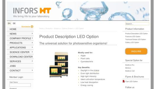 Product description LED option for incubation shakers