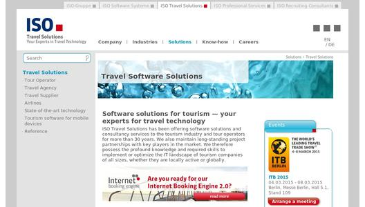 ISO Travel Solutions - Software for Tourism Professionals