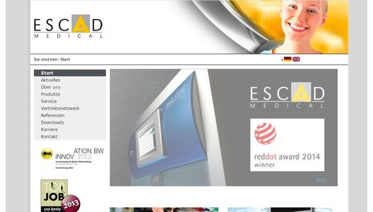 ESCAD MEDICAL Webseite
