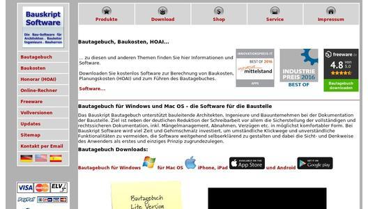 website promotion - Bautagebuch Muster