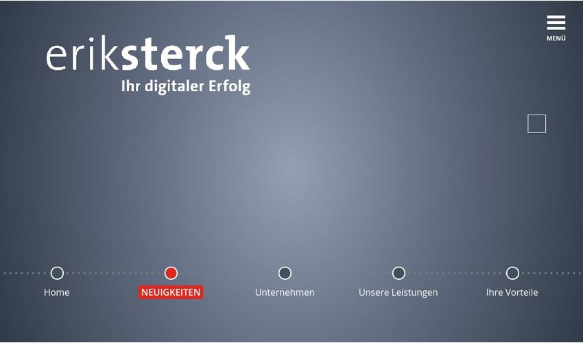 Website Erik Sterck GmbH