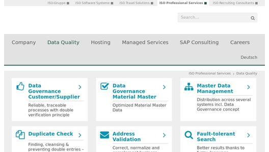 Data Quality Management in SAP from ISO Professionalö Services