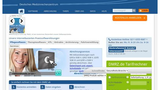 Website Deutsches Medizinrechenzentrum (DMRZ.de)