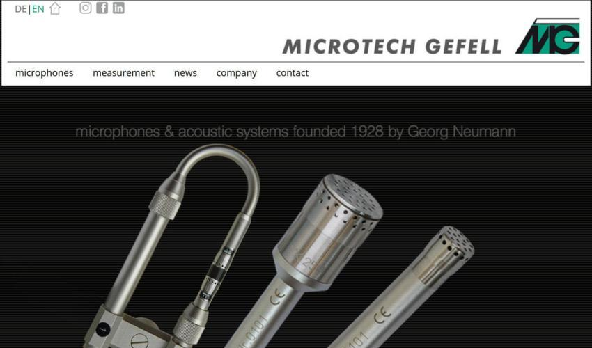 Microtech Gefell - measurement overview