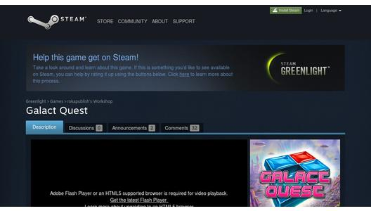 Galact Quest on Steam® Greenlight™