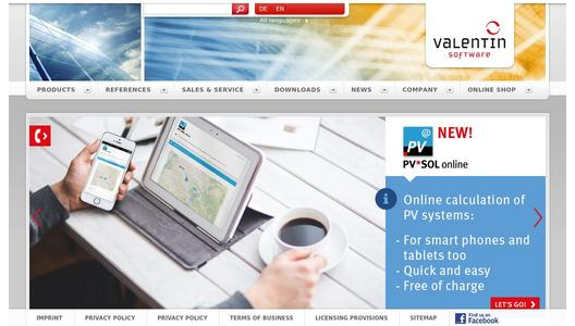 Valentin Software website