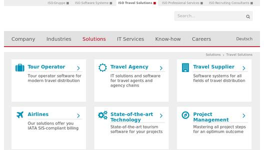 Travel software by ISO Travel Solutions