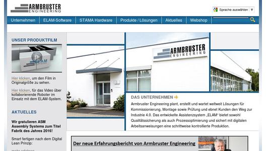 Homepage von Armbruster Engineering