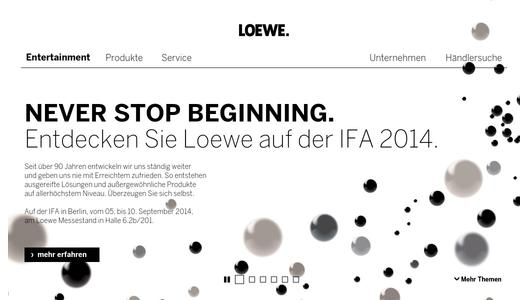 loewe auf der ifa 2014 never stop beginning loewe technologies gmbh pressemitteilung. Black Bedroom Furniture Sets. Home Design Ideas