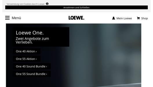 loewe bild 7 die skulptur unter den tv ger ten erh lt den german design award loewe. Black Bedroom Furniture Sets. Home Design Ideas