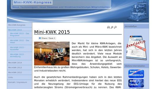 Mini-KWK-Kongress 2015 in Nürnberg-Fürth