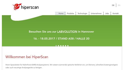 HiperScan GmbH - Bringing NIR-Spectroscopy to an new level