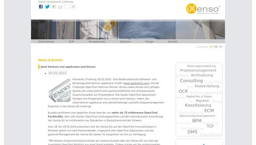 iXenso Homepage