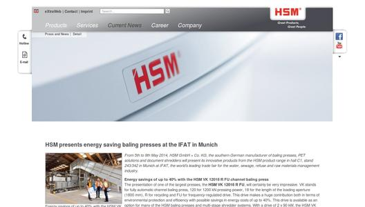 "Weitere Infos zu ""HSM presents energy saving baling presses at the IFAT in Munich"""
