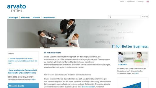 arvato Systems Website