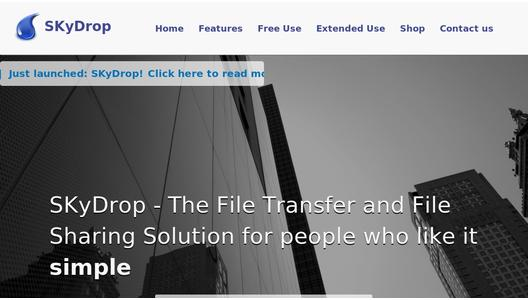 SKyDrop - the File Transfer solution for people who like it simple