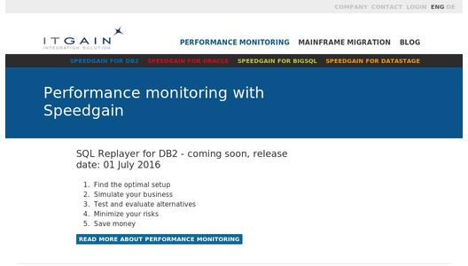 Performance monitoring with Speedgain