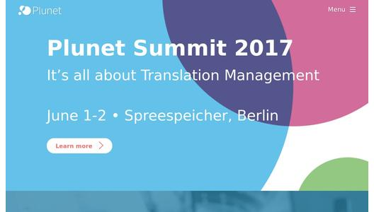 Plunet Translation Management Systems Webpage