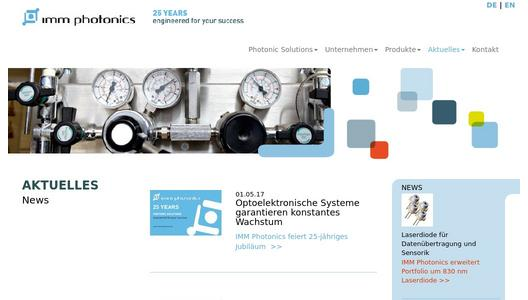 Firmennews IMM Photonics GmbH