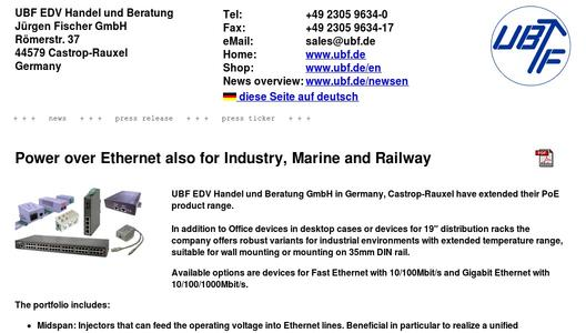 Power over Ethernet also for Industry, Marine and Railway
