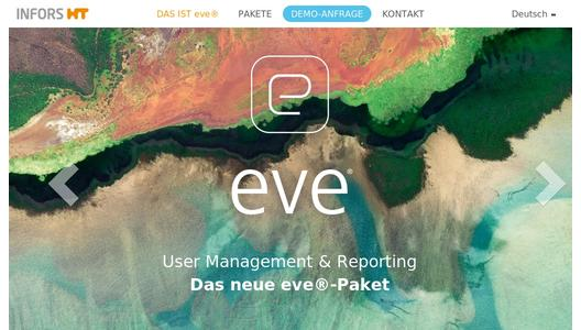 Produktwebsite eve