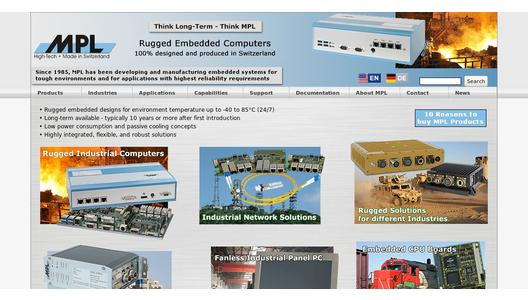 Embedded Industrial Computers PCs for rugged environment