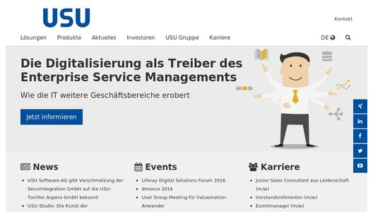 "Weitere Infos zu ""USU Software AG announces merger of SecurIntegration GmbH with USU subsidiary Aspera GmbH"""