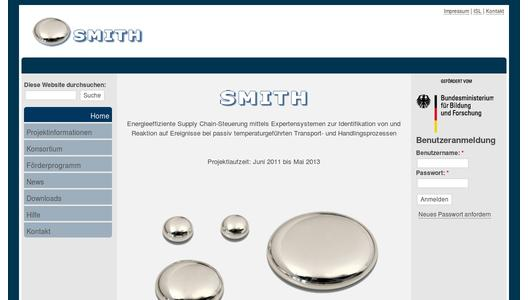 Website des Projekts SMITH