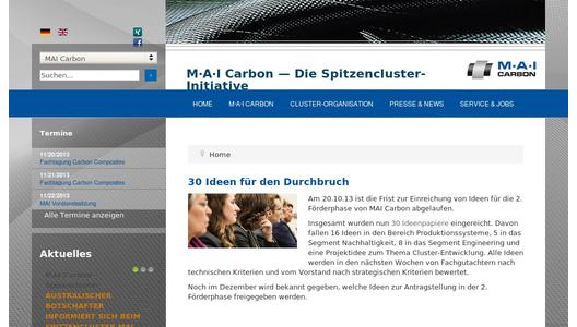 Homepage Spitzenclusterinitiative MAI Carbon