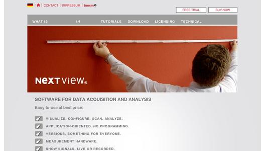 NextView 4 - Professional Software for Data Acquisition and Analysis