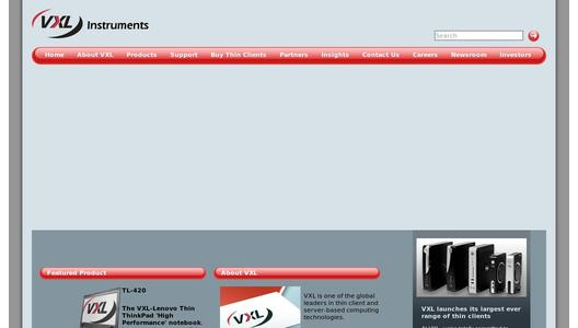 Website VXL Instruments