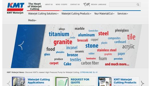 Homepage KMT Waterjet Systems