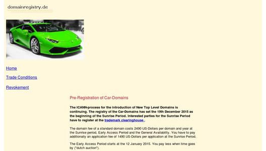 Car-Domain - the domain which fits to the car of the future