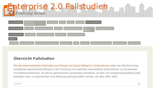 Enterprise 2.0 Fallstudien