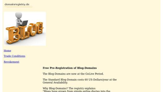 Blog-Domain  - the domain extension for blogging and bloggers