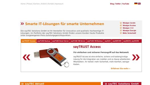 sayTEC Solutions Homepage
