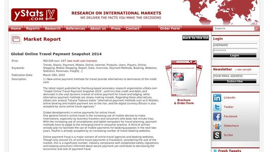 GLOBAL ONLINE TRAVEL PAYMENT  SNAPSHOT 2014