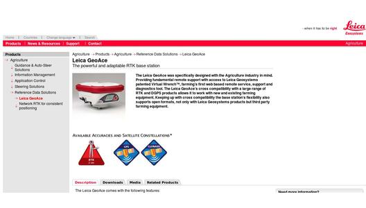 Leica GeoAce product page