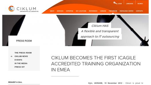 Ciklum Becomes The First ICAgile Accredited Training Organization in EMEA