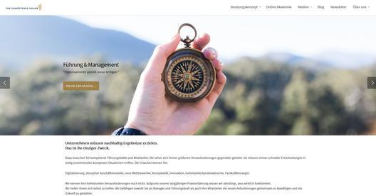 Homepage von The Competence House