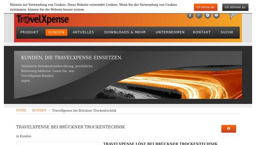 TravelXpense Website