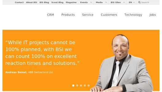 BSI Software for CRM, call centers, CTMS and more.
