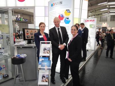v. l. n. r.: Luana Sommer (LI NMN), Herr Prof. Henning Zoz (Zoz Group), Frau Dr. Nadine Teusler (LI NMN)