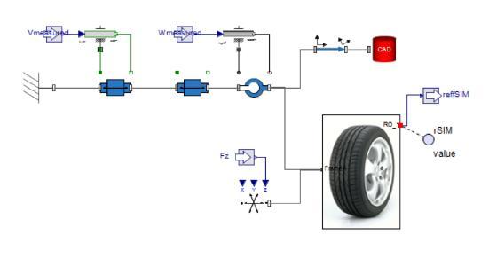 Volumetric Tire Model as developed in MapleSim