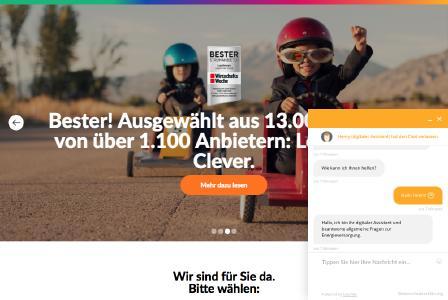 LogoEnergie bietet Chatbot-Service auf der Website