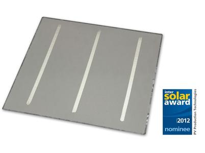 Silver-free backside with all-over aluminum backside and three tin busbars