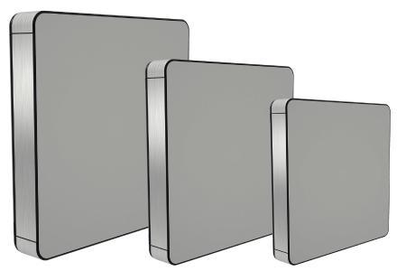 In drei Standardgrößen ist das multiPANEL Gehäuse jetzt für Einbauten erhältlich, die maximal 12, 17 oder 21 Zoll groß sind. Dadurch verkürzen sich die die Lieferzeiten, und auch Kleinbestellungen lassen sich kostengünstig realisieren / Bild: Rolec Gehäuse-Systeme GmbH