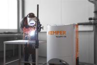 Neue Art der Pistolenabsaugung: Mit der VacuFil-Serie präsentiert KEMPER auf der Blechexpo sechs mobile Absauggeräte für die effektive Punktabsaugung. (Foto: KEMPER)